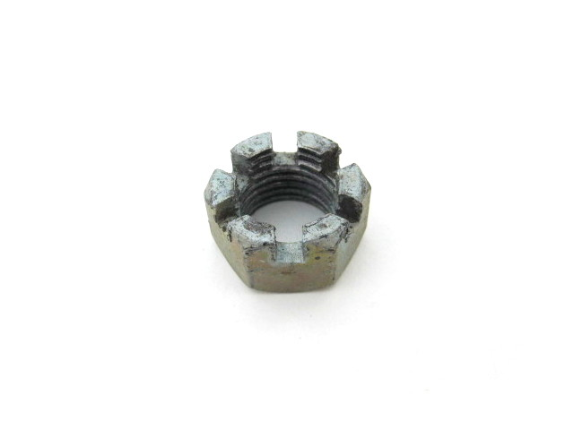 Rear wheel axle castellated nut