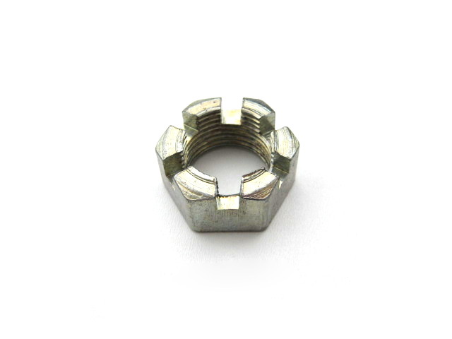 Sidecar wheel axle castellated nut