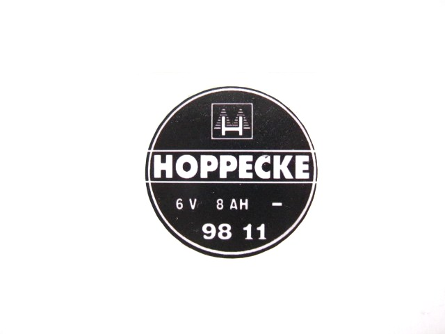 Battery logo sticker Hoppecke (EU)