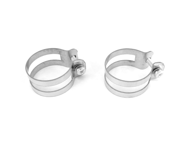 Carburettor to air intake tube clamp rings 34 mm, stainless (HQ)
