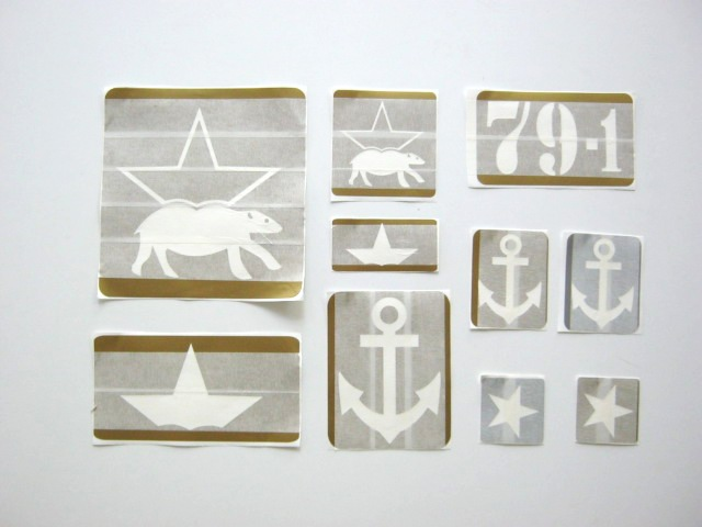 Insignia stencils, Red Army