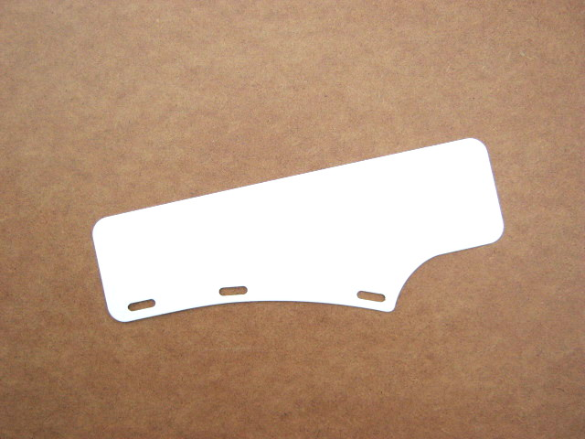 Front number plate, short, straight, white (EU)
