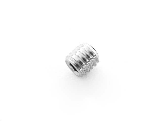 Set screw M6x6, hex socket, stainless