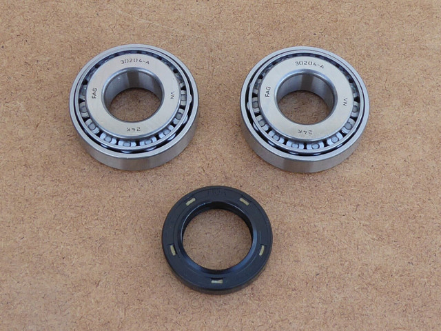 Bearing & oil seal kit wheel K-750, Dnepr & Ural, 3 pcs (HQ)