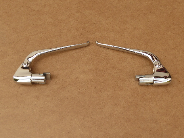 Handlebar levers BMW, inverted, brass chrome-plated (EU)