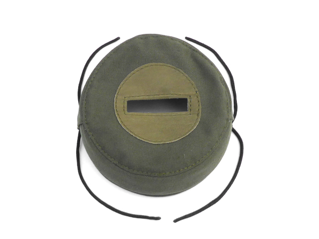 Headlamp black-out cover, green canvas, w/visor (EU)