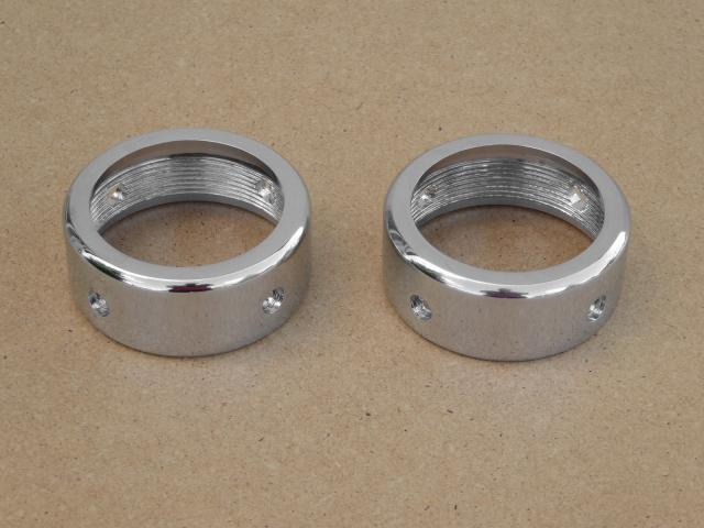 Silencer nuts Izh-56, for non-demountable silencers, chrome-plated (HQ)