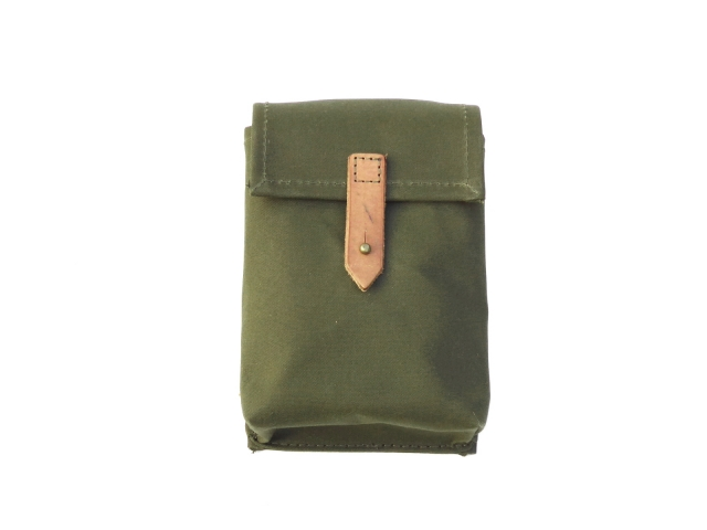 Fuel tank toolbox bag, green canvas (EU)